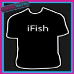 I FISH FISHING ANGLER GIFT FUNNY SLOGAN TSHIRT